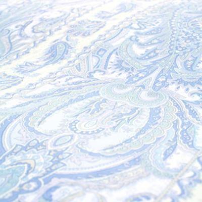 送料無料 ヴェルサイユ 高密度防ダニカバーシリーズ フラットシーツ クイーン・キング兼用 230×260cm ブルー
