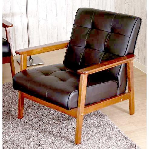 ソファー ソファ 1人掛け 一人掛け 一人掛け 1人用 一人用 コンパクト 高級 おしゃれ ダイニングベンチ 椅子 背もたれ レザー 革 合皮 肘付き ブラック 黒