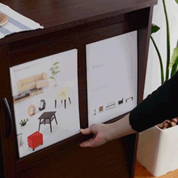食器棚  キッチン 食器収納 キッチンラック レンジ台 レンジ棚 ロータイプ 小型 ミニ食器棚 約 幅90 スライド 炊飯器 奥行40 kag 05