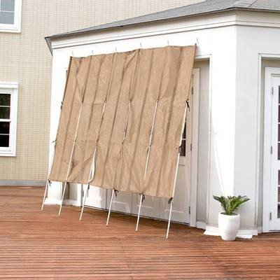 サンシェード 日除け 立て簾 すだれ 窓 遮光 目隠し 断熱 幅300×高さ240 2SET ( たてす 300幅 ) ガーデン家具 パラソル オーニング