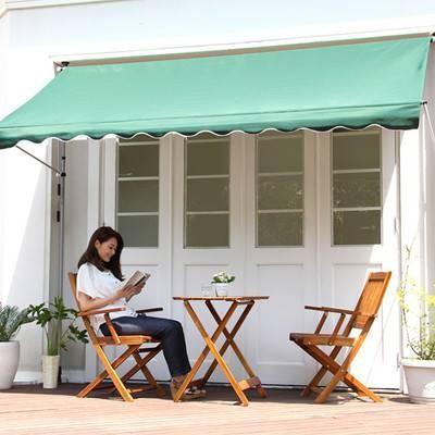 オーニング 300幅 日よけ つっぱり UV加工 撥水 カフェ系 テラス ガーデン 庭 ベランダ バルコニー ( ガーデン家具 パラソル )