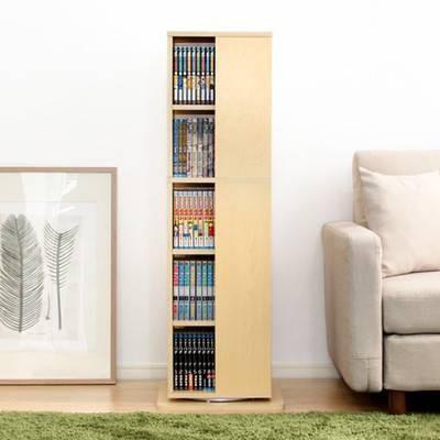 本棚 安い 収納棚 整理 棚 ラック 大容量 子供 薄型 回転式 スリム 単行本棚 文庫本棚 漫画本棚 dvd 5段 マガジンラック 約 幅40|kag
