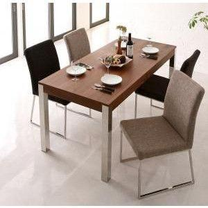 ダイニングテーブル ダイニングテーブルセット 5点 4人用 ホワイト 白 ビターブラウン 茶色 食卓テーブル テーブル チェア 椅子|kag|03
