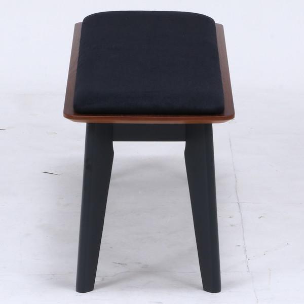 ベンチ ダイニングベンチ 椅子 おしゃれ 木製 安い 北欧 2人掛け 二人掛け 長椅子 ダイニングチェア いす 玄関 ブラウン×ブラック 幅110 奥行36 高さ43 kag 03