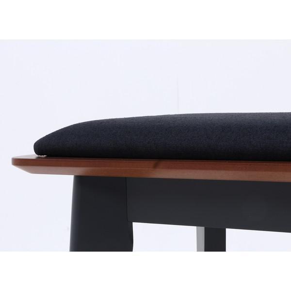 ベンチ ダイニングベンチ 椅子 おしゃれ 木製 安い 北欧 2人掛け 二人掛け 長椅子 ダイニングチェア いす 玄関 ブラウン×ブラック 幅110 奥行36 高さ43 kag 05
