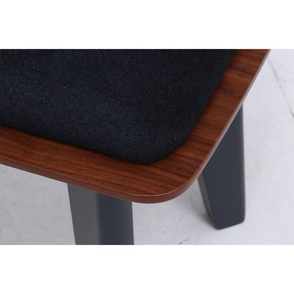 ベンチ ダイニングベンチ 椅子 おしゃれ 木製 安い 北欧 2人掛け 二人掛け 長椅子 ダイニングチェア いす 玄関 ブラウン×ブラック 幅110 奥行36 高さ43 kag 06