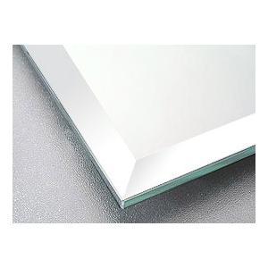 鏡 鏡 ミラー 板鏡(配送+施工)(スーパークリアーミラー)(四角形)(板厚5ミリ)(15mm幅面取り加工):1829mm×305mm×2枚