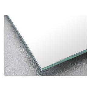 鏡 鏡 ミラー 板鏡(配送+施工)(スーパークリアーミラー)(四角形)(板厚5ミリ)(糸面取り加工):2134mm×610mm×2枚