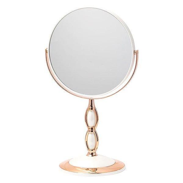 拡大鏡 両面鏡 卓上鏡 スタンドミラー(鏡 ミラー 卓上 化粧鏡 スタンド 卓上) (普通鏡 拡大鏡5倍 両面鏡)(角度調節可):Bd7/1806d6