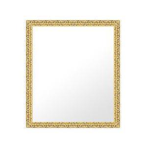 フレームミラー 鏡 ミラー 壁掛け鏡 壁掛けミラー ウオールミラー (ゴールド (ゴールド 金箔仕立て):bol6g-w353mmxh455mmxd24mm-se