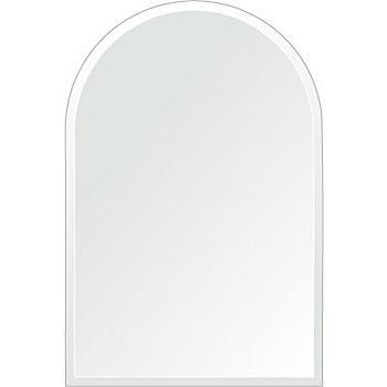 壁掛け 壁掛け 鏡 ミラー 日本製 アーチ(天丸形) 300mm×450mm クリアーミラー クリスタルカット(リビング、玄関、廊下、寝室など一般空間用)