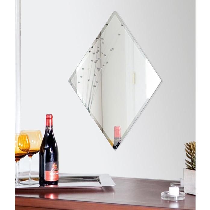 壁掛け鏡 壁掛けミラー ウォールミラー 姿見 姿見鏡 クリスタルミラー クリスタルミラー クリスタルミラー シリーズ(ロザンジュ):クリアーミラー(通常の鏡) クリスタルカットタイプ b97