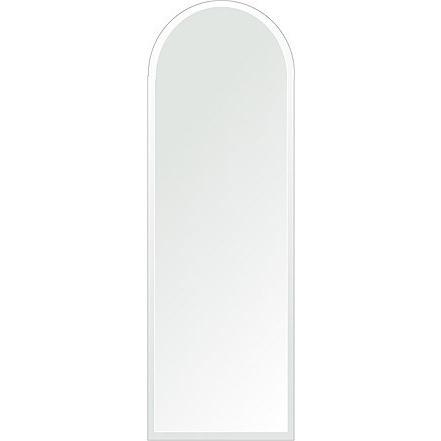 洗面鏡 浴室鏡 トイレ鏡 化粧鏡 日本製 アーチ(天丸形) 400mm×1200mm クリアーミラー デラックスカット 国産 国産 フレームレスミラー
