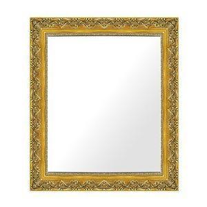 フレームミラー フレームミラー 鏡 ミラー 壁掛け鏡 壁掛けミラー ウオールミラー (ゴールド 金箔仕立て):I-K700G-543mmx644mm