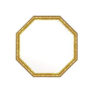 鏡 ミラー 壁掛け鏡 壁掛け鏡 壁掛け鏡 壁掛けミラー ウオールミラー (八角 八角形 オクタゴン):ボーン ナポリ ゴールド 正八角形鏡472mmx472mm cc5