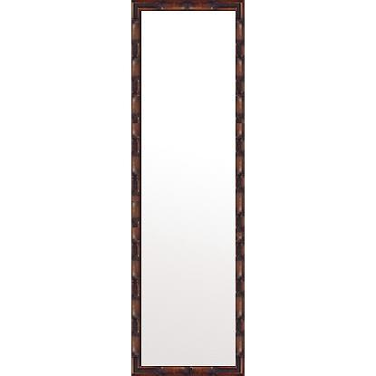 フレームミラー 鏡 ミラー 姿見 姿見鏡 :竹林の里 ブラウン 350mmx1250mm(壁掛け 壁付け 姿見 姿見鏡 全身 全身鏡 壁 化粧鏡 玄関)