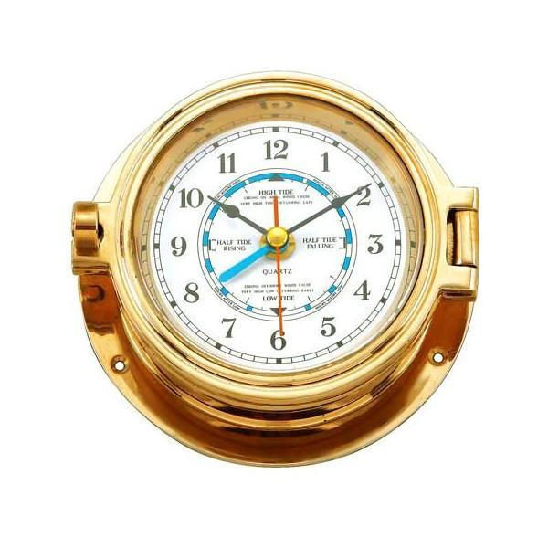掛時計、掛け時計、壁掛け時計、時計 壁掛け、ウオールクロック(レトロ、アンティーク、クラシック) :真鍮製磨き仕上げ reatg-7g1020k1