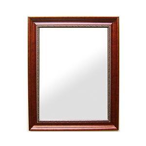 フレームミラー 鏡 鏡 ミラー 壁掛け鏡 ウオールミラー(ブラウン 茶色 ダークブラウン):セピア レディッシュブラウン Mサイズ