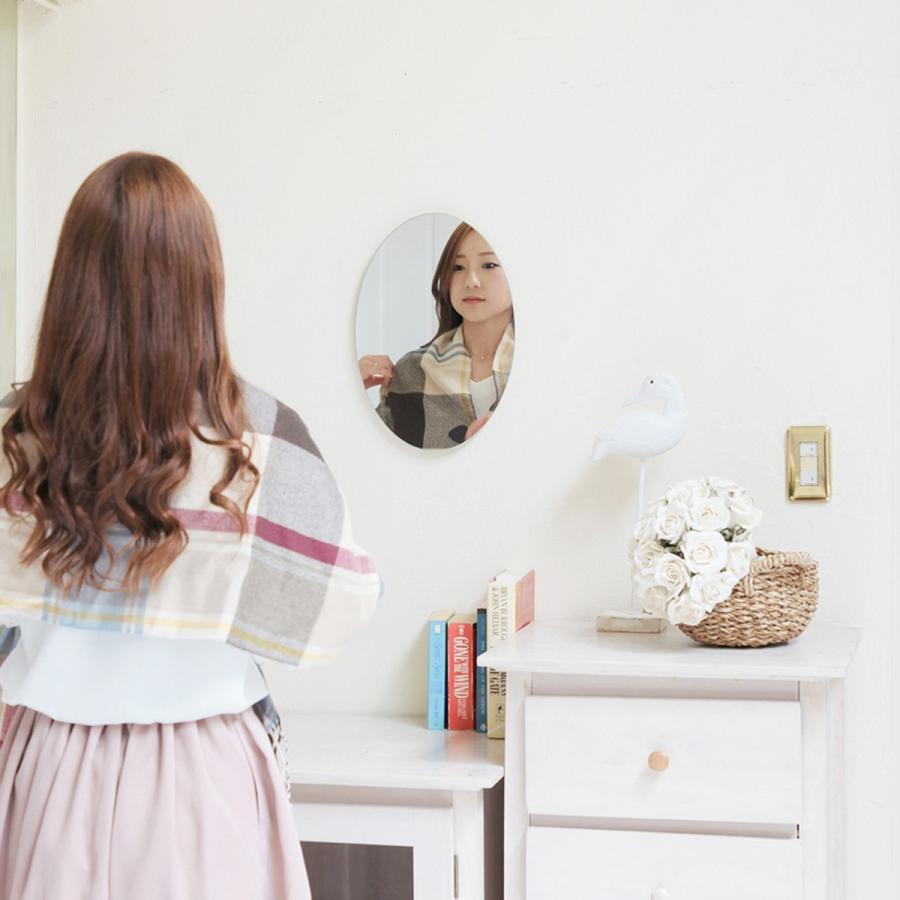 鏡 貼る 壁掛け トイレ おしゃれ 楕円 オーバル|kagamishop|11