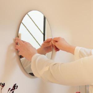 鏡 貼る 壁掛け トイレ おしゃれ 楕円 オーバル|kagamishop|06
