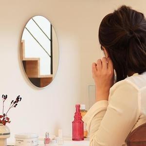 鏡 貼る 壁掛け トイレ おしゃれ 楕円 オーバル|kagamishop|07