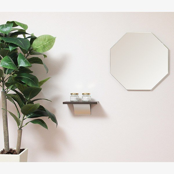 トイレ 玄関 壁掛け 棚 賃貸 シェルフ S スマホ置き|kagamishop|05