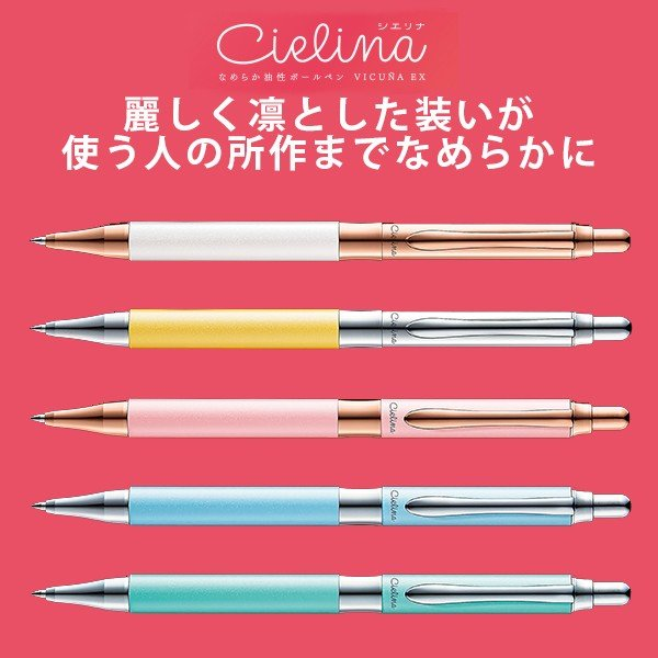 ぺんてる 油性ボールペン ビクーニャEX シエリナ(インク色:黒) 0.5mm BX3005