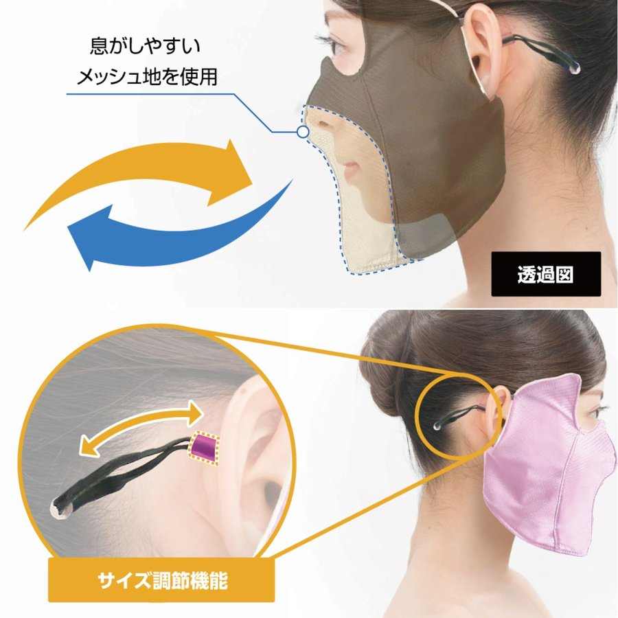 UVカットマスク 日焼け防止マスク 影美肌 -KAGEBIHADA- デコルテ|kagebihada|09