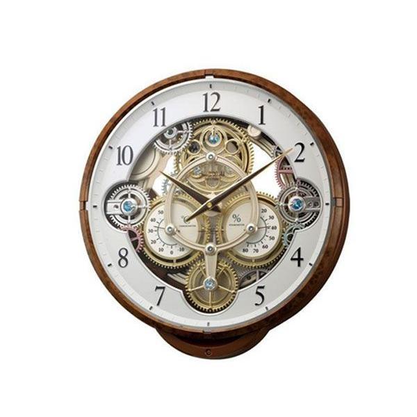 シチズン CITIZEN リズム時計製 からくり電波掛け時計 4MN515RH23 | 294408