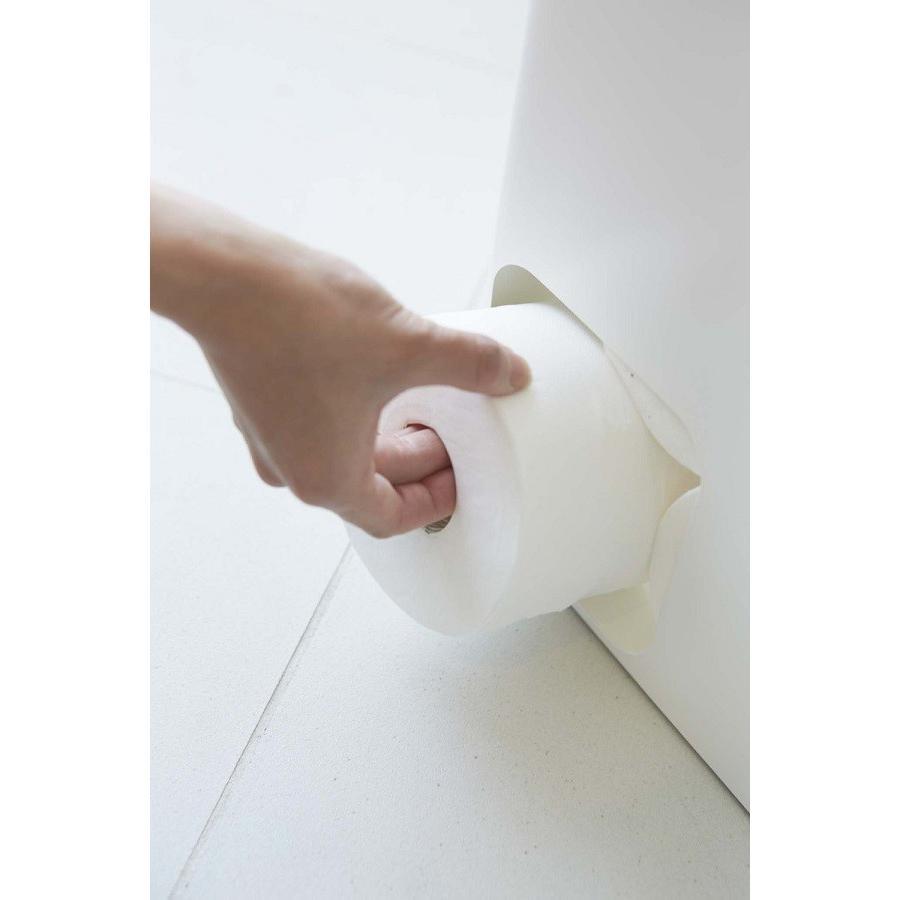 トイレットペーパーストッカー プレート ホワイト トイレットペーパー収納 トイレットペーパーケース 12ロール スチール コンパクト スタイ kagu-piena 03