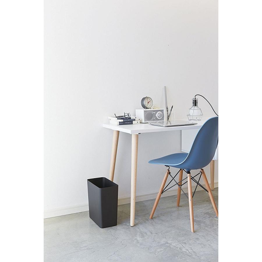 トラッシュカン タワー角型 ホワイト ブラック ゴミ箱 モノクロ ゴミ袋 固定 シンプル コンパクト 長方形 kagu-piena 05