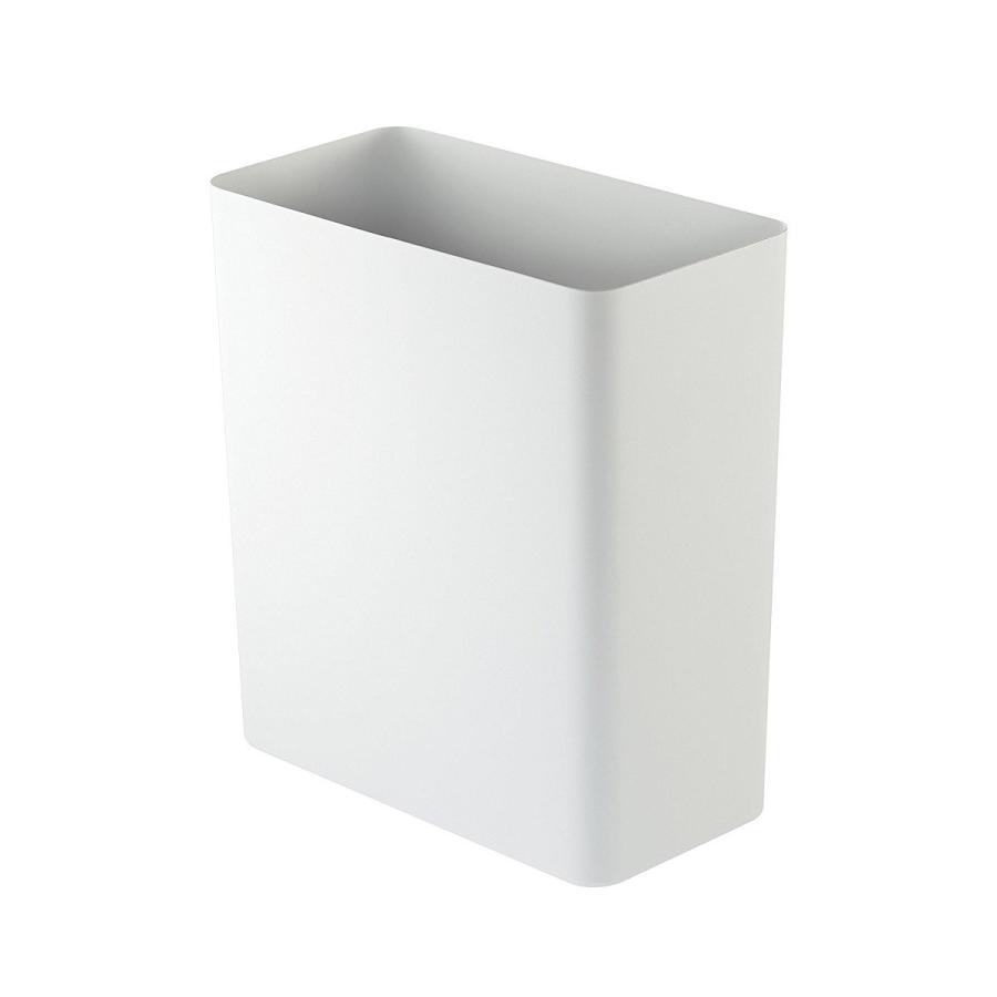 トラッシュカン タワー角型 ホワイト ブラック ゴミ箱 モノクロ ゴミ袋 固定 シンプル コンパクト 長方形 kagu-piena 06