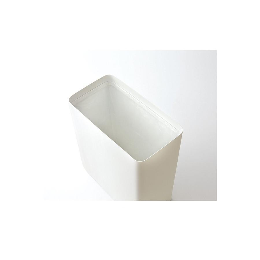トラッシュカン タワー角型 ホワイト ブラック ゴミ箱 モノクロ ゴミ袋 固定 シンプル コンパクト 長方形 kagu-piena 07