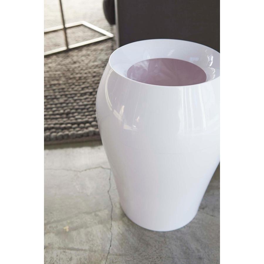 トラッシュカン ヴェール ラウンド ホワイト ブラウン ブルー グレー ゴミ袋が見えないゴミ箱 ごみ袋が隠れるゴミ箱 壺型 10.5L|kagu-piena|04