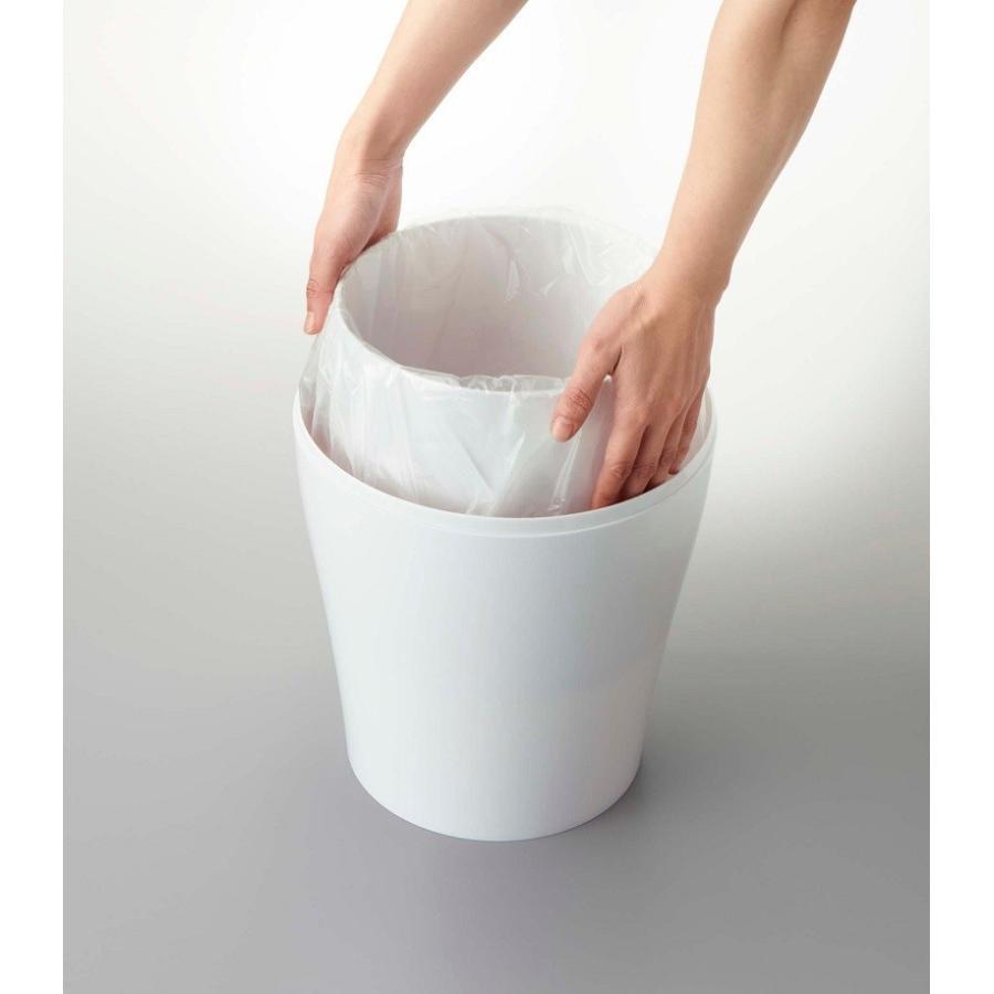 トラッシュカン ヴェール ラウンド ホワイト ブラウン ブルー グレー ゴミ袋が見えないゴミ箱 ごみ袋が隠れるゴミ箱 壺型 10.5L|kagu-piena|05