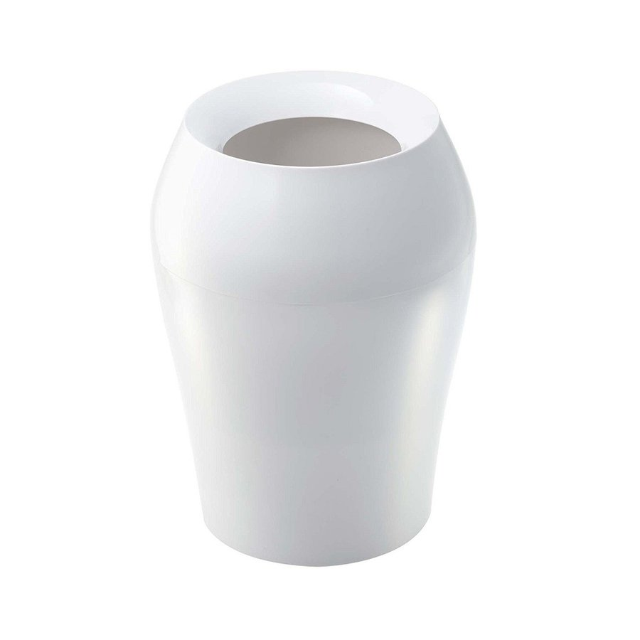 トラッシュカン ヴェール ラウンド ホワイト ブラウン ブルー グレー ゴミ袋が見えないゴミ箱 ごみ袋が隠れるゴミ箱 壺型 10.5L|kagu-piena|07
