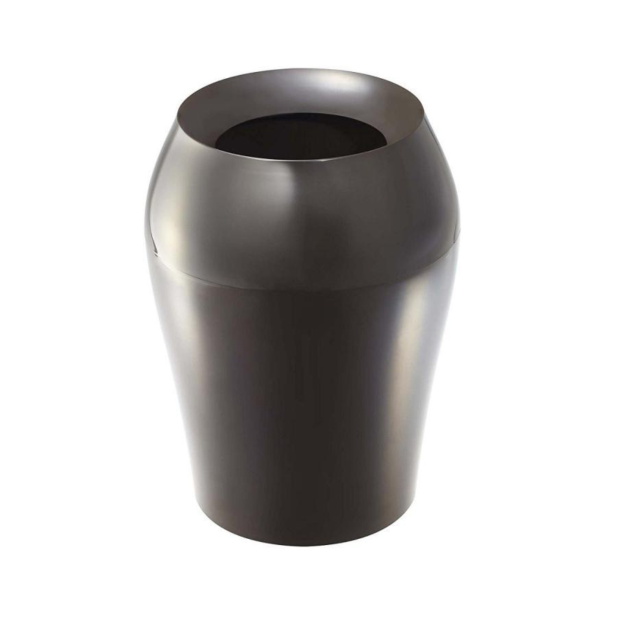 トラッシュカン ヴェール ラウンド ホワイト ブラウン ブルー グレー ゴミ袋が見えないゴミ箱 ごみ袋が隠れるゴミ箱 壺型 10.5L|kagu-piena|08