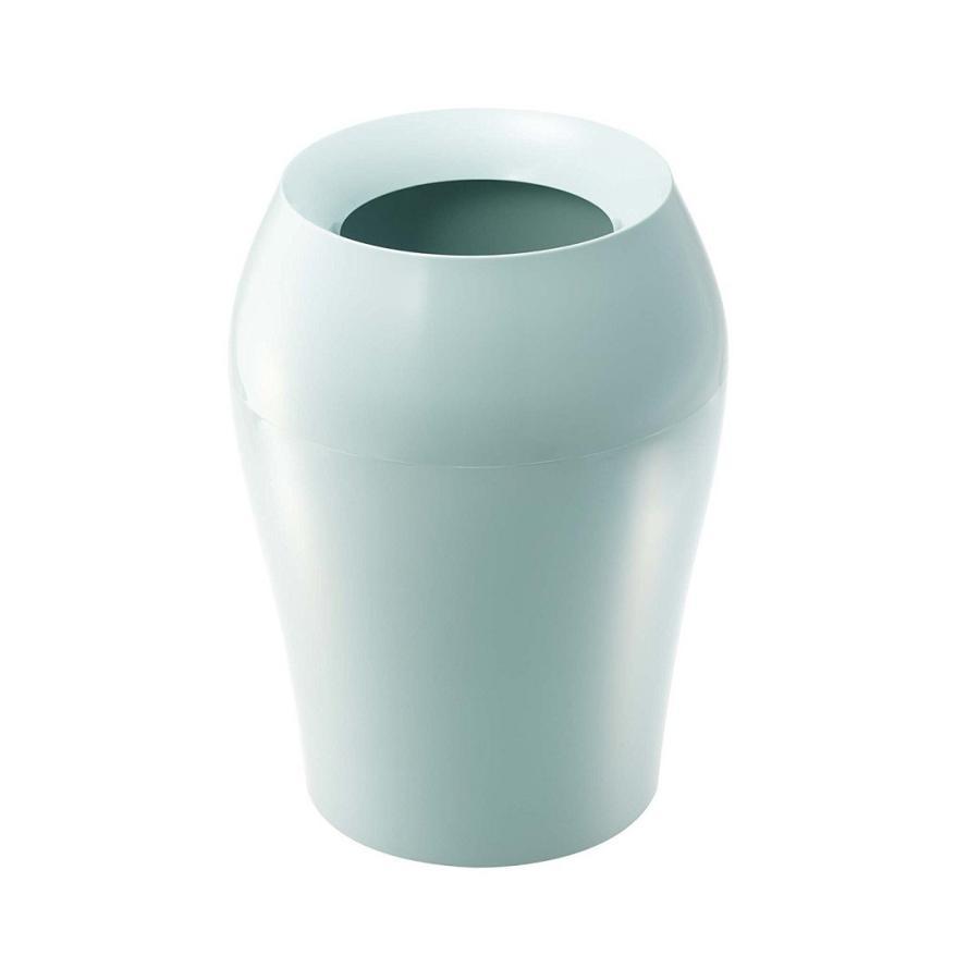 トラッシュカン ヴェール ラウンド ホワイト ブラウン ブルー グレー ゴミ袋が見えないゴミ箱 ごみ袋が隠れるゴミ箱 壺型 10.5L|kagu-piena|09