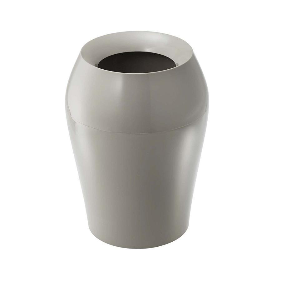 トラッシュカン ヴェール ラウンド ホワイト ブラウン ブルー グレー ゴミ袋が見えないゴミ箱 ごみ袋が隠れるゴミ箱 壺型 10.5L|kagu-piena|10