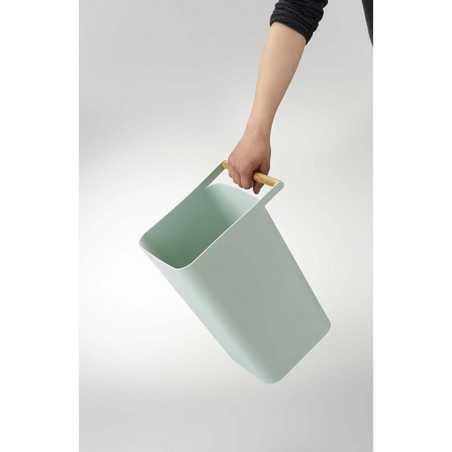 トラッシュカン コモ ゴミ箱 取っ手付ゴミ箱 持ち運びしやすい 回収しやすい ナチュラル スクエア型 ハンドル付|kagu-piena|11