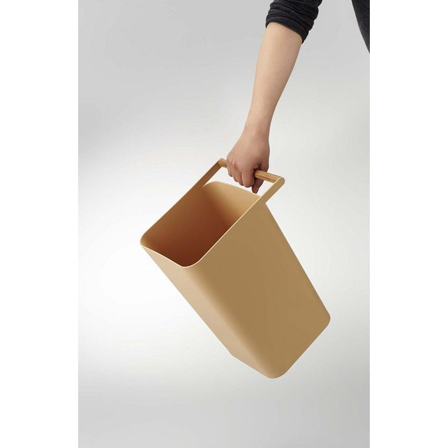 トラッシュカン コモ ゴミ箱 取っ手付ゴミ箱 持ち運びしやすい 回収しやすい ナチュラル スクエア型 ハンドル付|kagu-piena|12