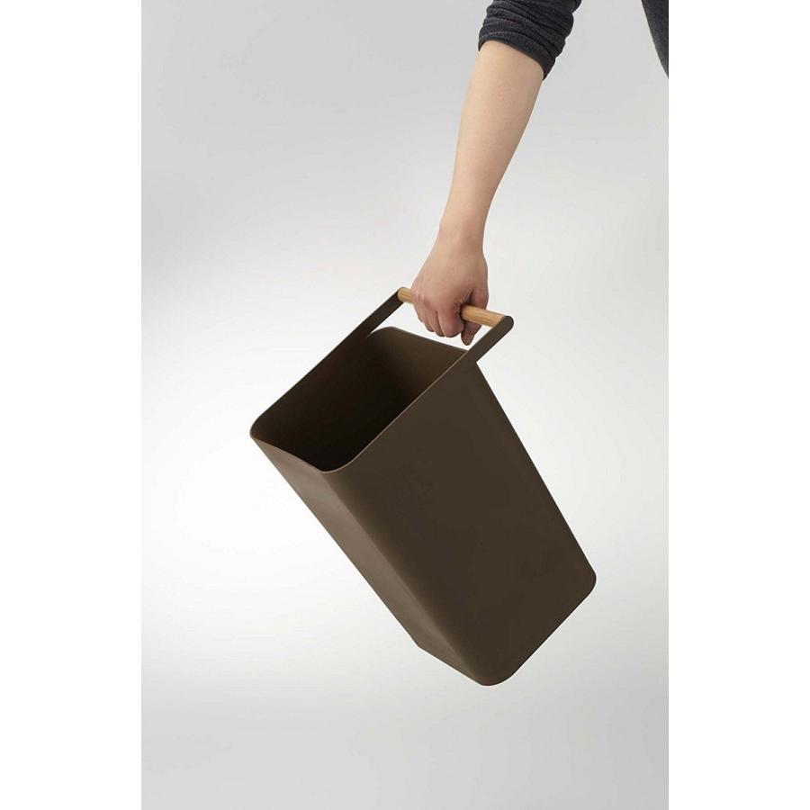 トラッシュカン コモ ゴミ箱 取っ手付ゴミ箱 持ち運びしやすい 回収しやすい ナチュラル スクエア型 ハンドル付|kagu-piena|13