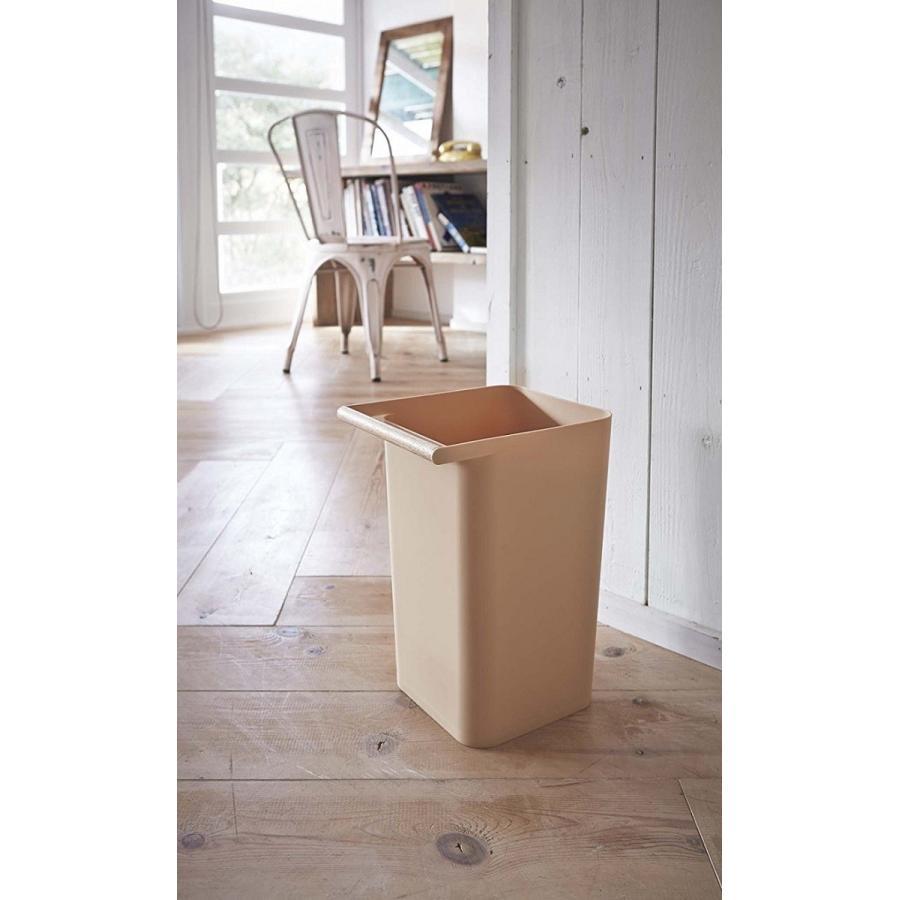 トラッシュカン コモ ゴミ箱 取っ手付ゴミ箱 持ち運びしやすい 回収しやすい ナチュラル スクエア型 ハンドル付|kagu-piena|16