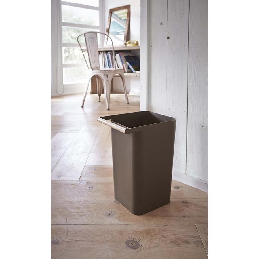 トラッシュカン コモ ゴミ箱 取っ手付ゴミ箱 持ち運びしやすい 回収しやすい ナチュラル スクエア型 ハンドル付|kagu-piena|17
