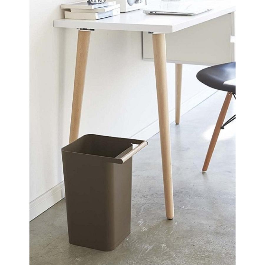 トラッシュカン コモ ゴミ箱 取っ手付ゴミ箱 持ち運びしやすい 回収しやすい ナチュラル スクエア型 ハンドル付|kagu-piena|04