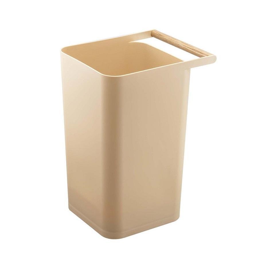 トラッシュカン コモ ゴミ箱 取っ手付ゴミ箱 持ち運びしやすい 回収しやすい ナチュラル スクエア型 ハンドル付|kagu-piena|08