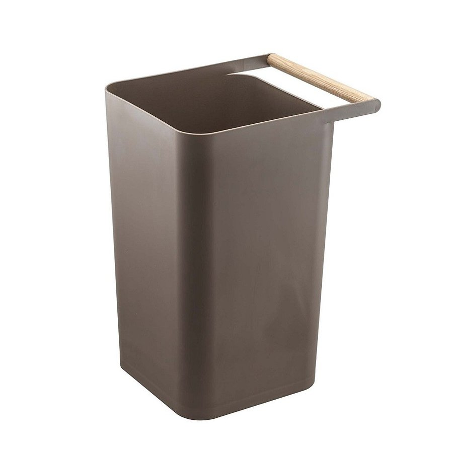トラッシュカン コモ ゴミ箱 取っ手付ゴミ箱 持ち運びしやすい 回収しやすい ナチュラル スクエア型 ハンドル付|kagu-piena|09