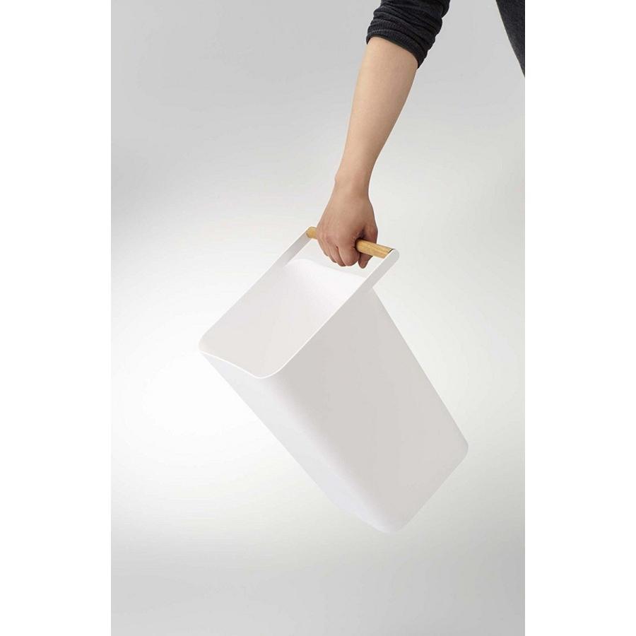 トラッシュカン コモ ゴミ箱 取っ手付ゴミ箱 持ち運びしやすい 回収しやすい ナチュラル スクエア型 ハンドル付|kagu-piena|10