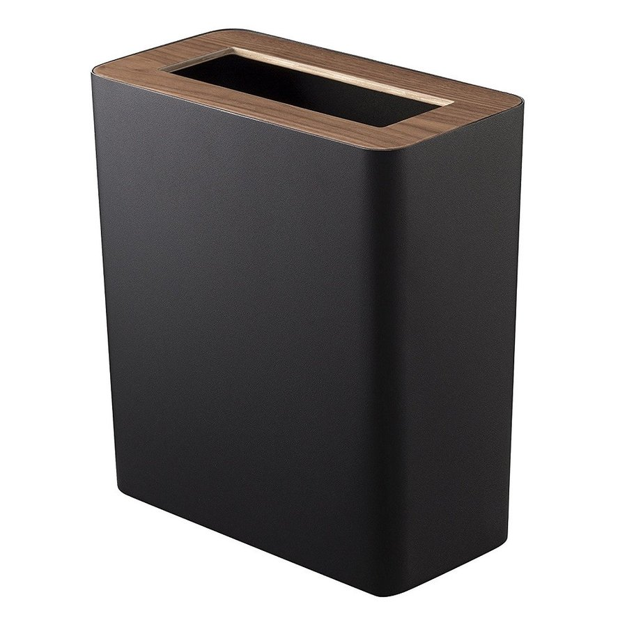 トラッシュカン リン 角型 ブラウン ナチュラル ゴミ袋が見えないゴミ箱 ダストボックス ごみ箱 分別 縦型 10リットル リビング オフィス 書斎 寝室 kagu-piena