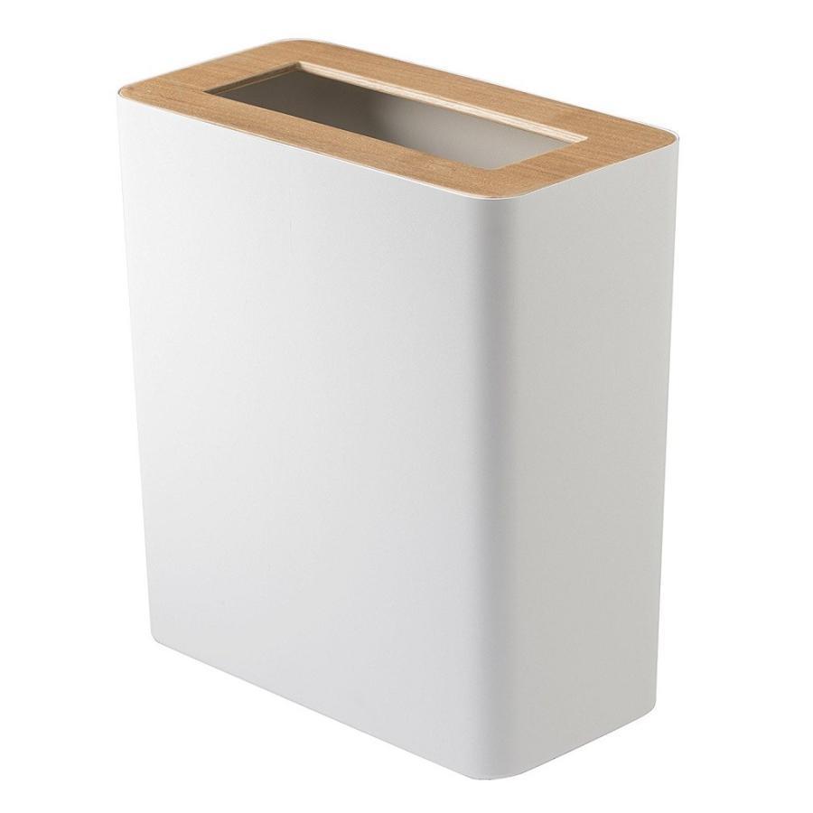 トラッシュカン リン 角型 ブラウン ナチュラル ゴミ袋が見えないゴミ箱 ダストボックス ごみ箱 分別 縦型 10リットル リビング オフィス 書斎 寝室 kagu-piena 02